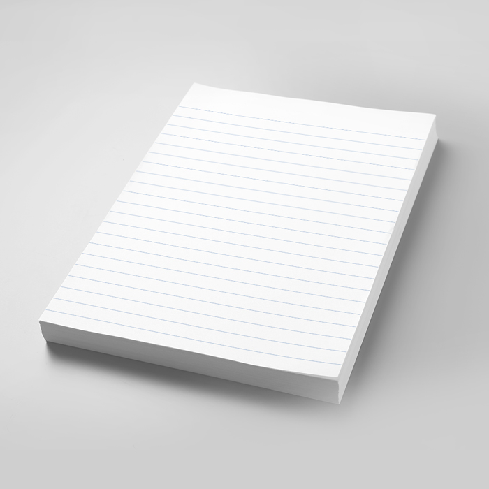 Notepad with Lines