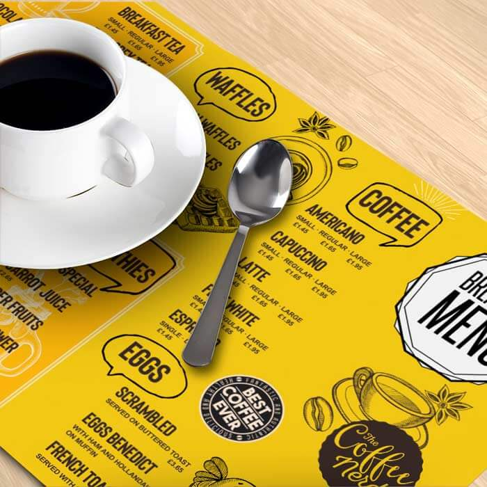 A3 120gsm Premium Smooth White Paper Placemat