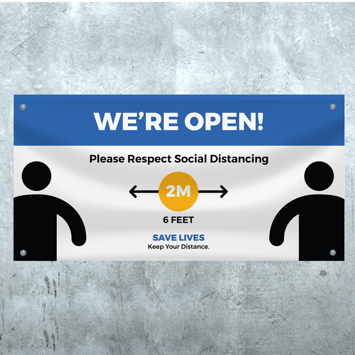 We're Open (2m) - PVC Banner