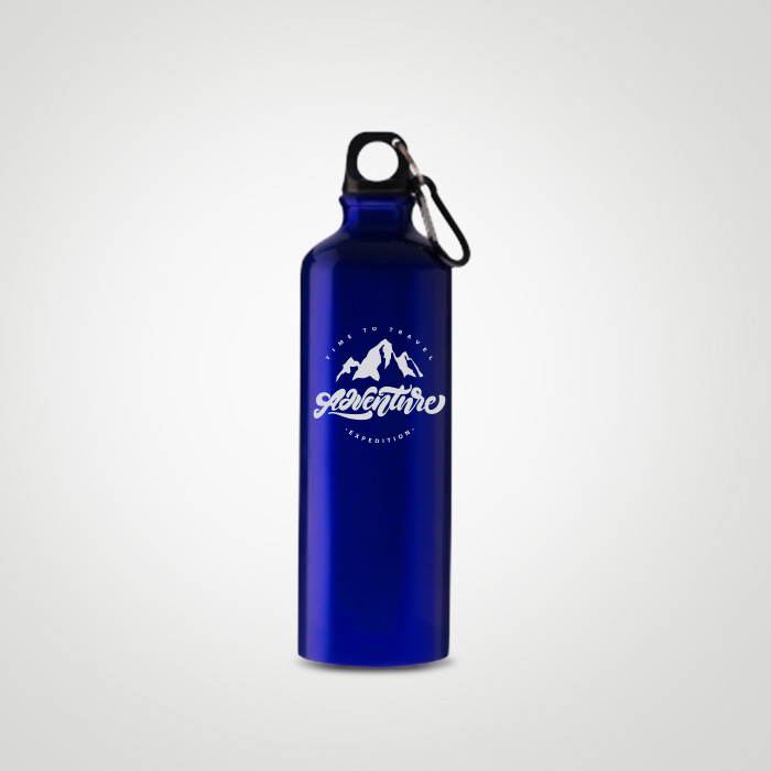 Aluminium Sports Bottle with carabiner