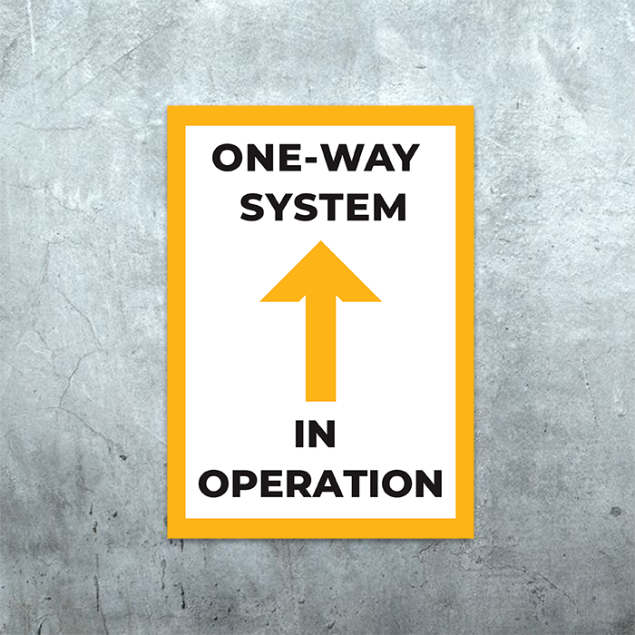 A3 and A4 One Way Poster