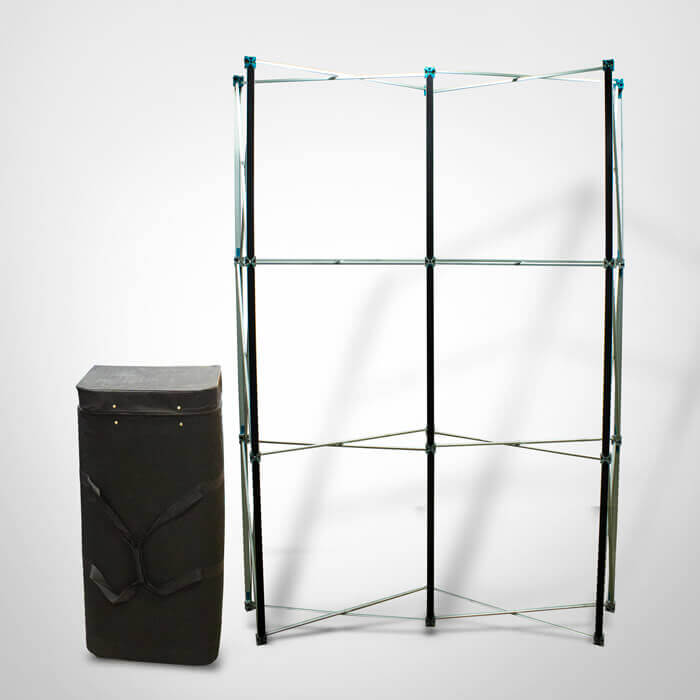 3x2 Rigid Display Stand Frame and Case