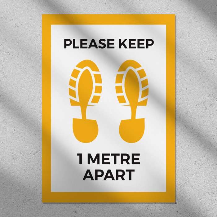 Please Keep 1m Apart Poster