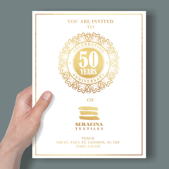 Gold or Silver Foil Flyers