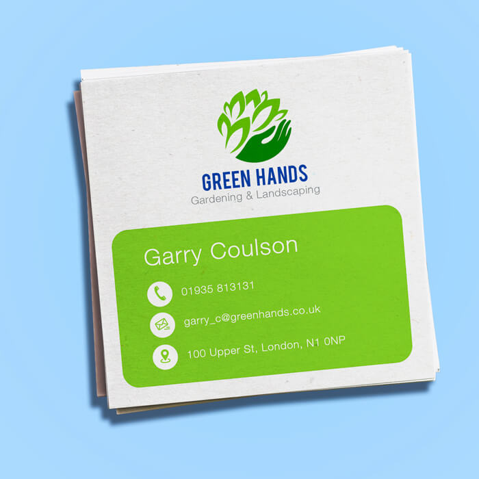 Recycled Square Business Card Printing