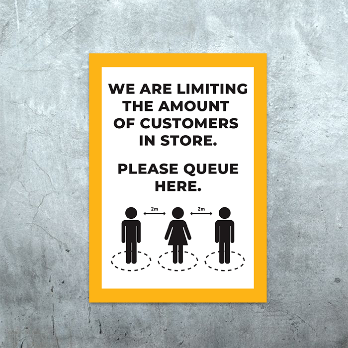 Please Queue Here Poster
