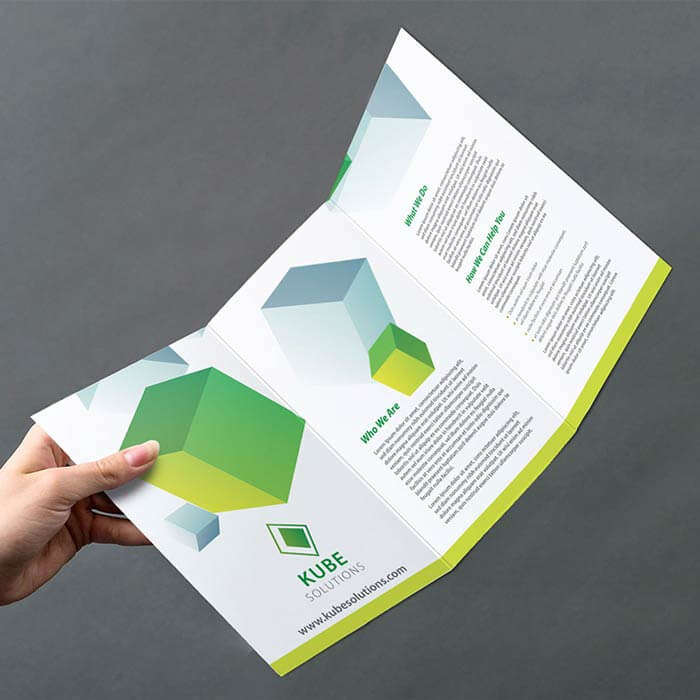 A4 Roll Folded to 6pp 1/3 A4 Leaflet