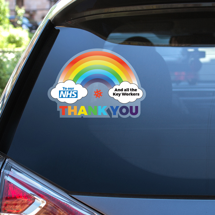Rainbow Car Stickers