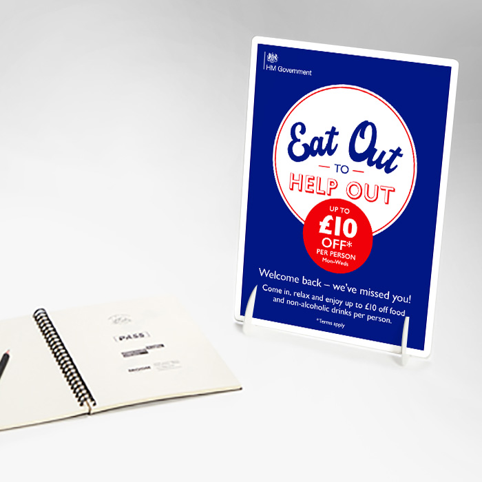 Eat Out Foamex Strut Cards