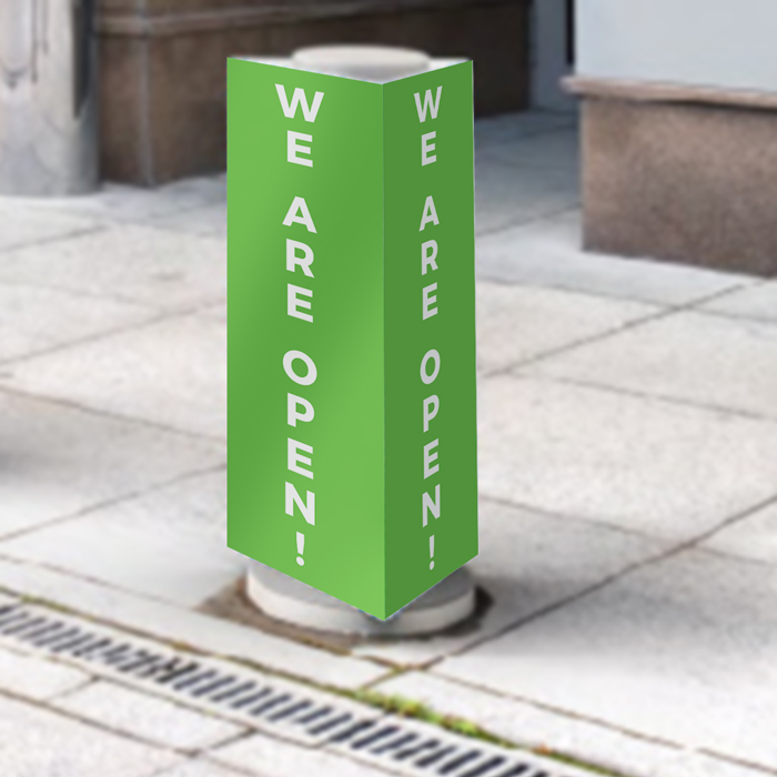 Bollard Covers - We Are Open