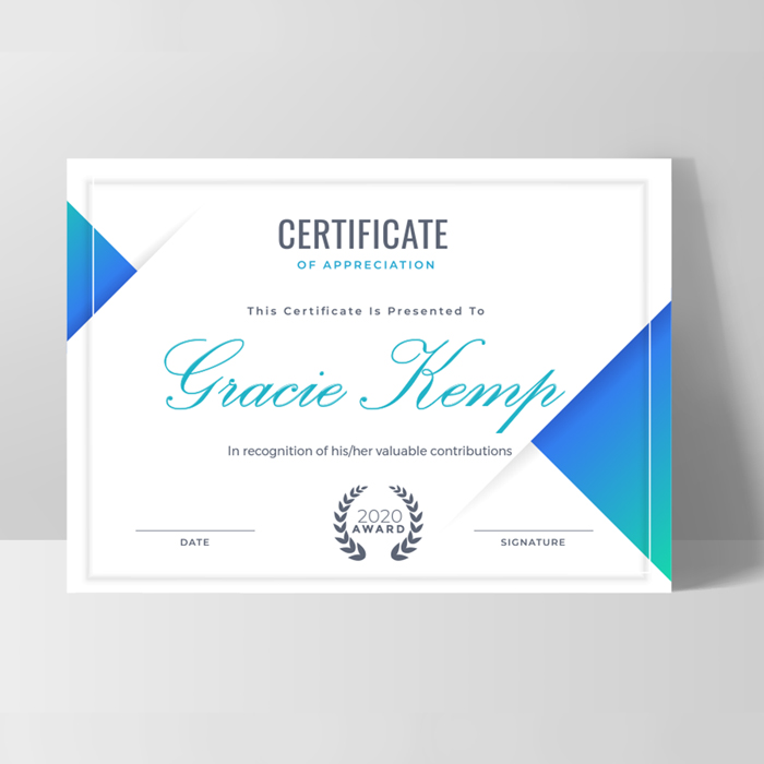 400gsm Uncoated Certificates
