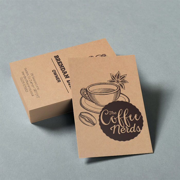 300gsm Kraft Business Card