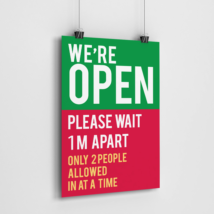 We Are Open Poster 1M