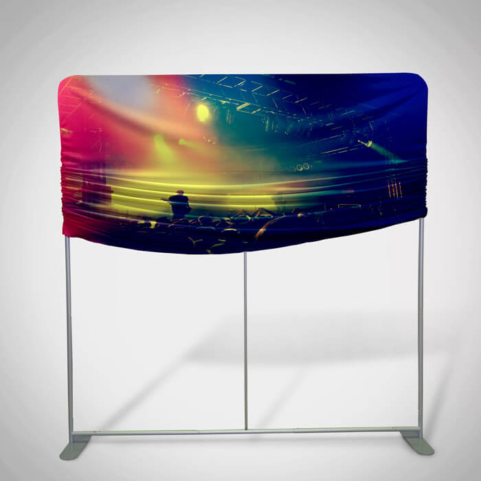 Straight Stretch Fabric Display Stand and Frame
