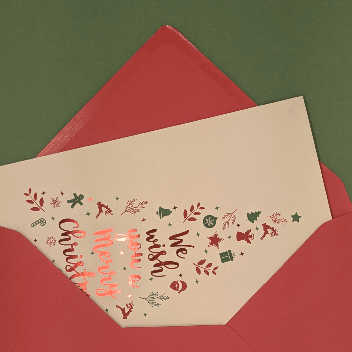 Greeting Card with Red Foil