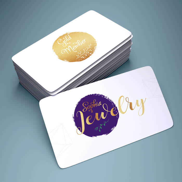 Plastic Card with Gold Foiling