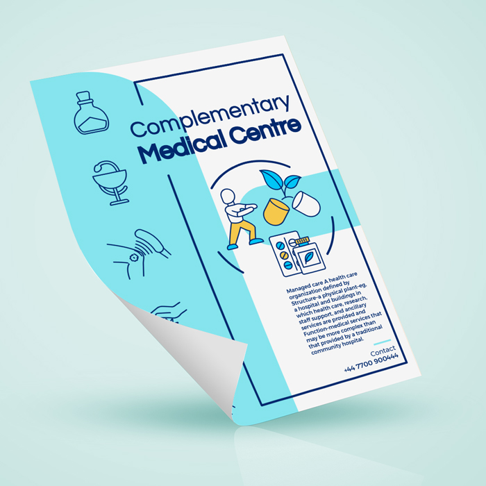 A4 Antimicrobial Laminated flyers