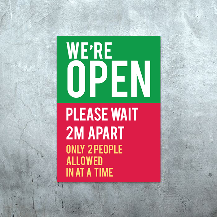 We Are Open Poster 2M