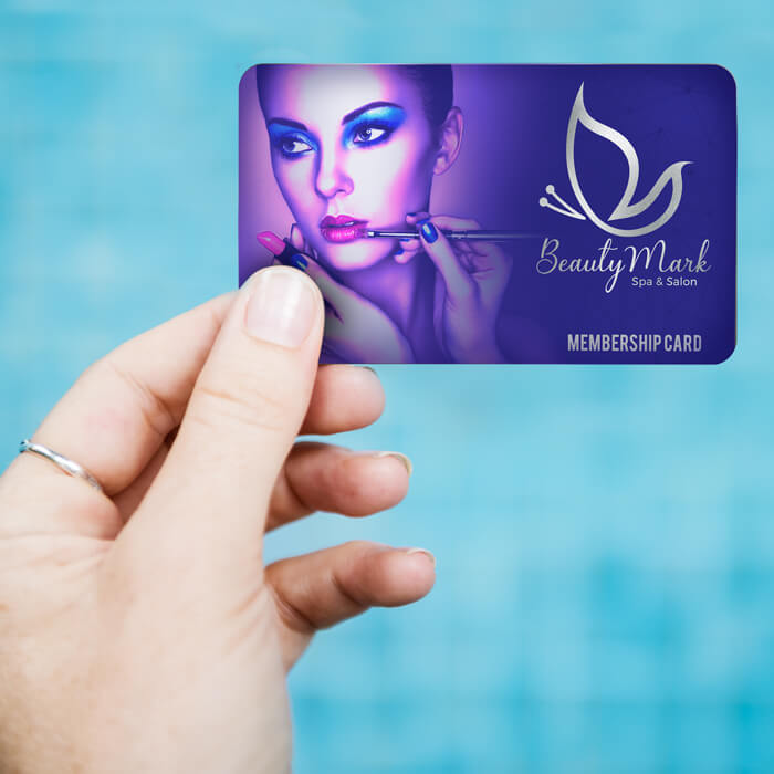 White Plastic Card with Full Colour Printing