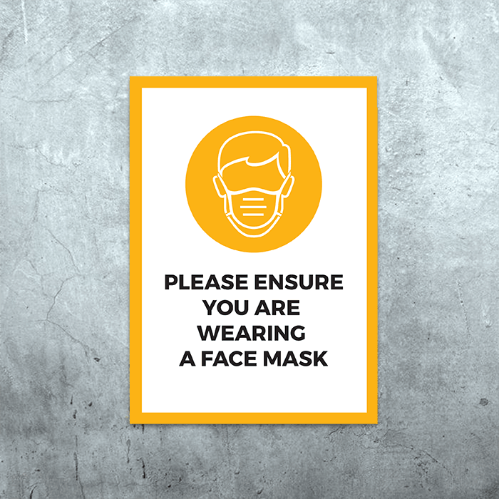 Wear Face Mask Poster