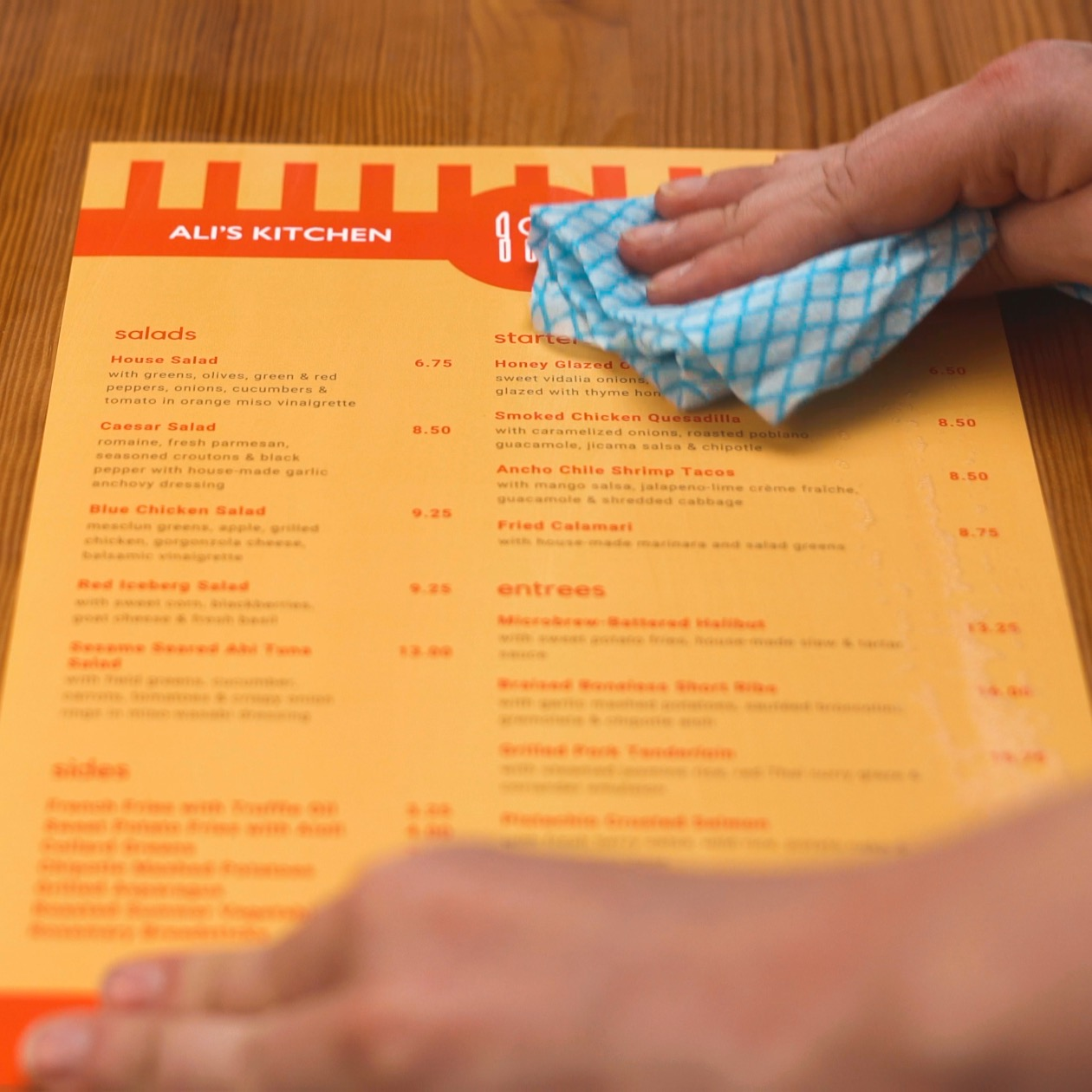 Waterproof Menu