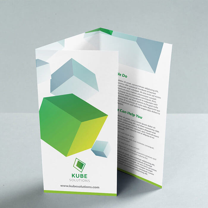 Unlaminated Folded Leaflet