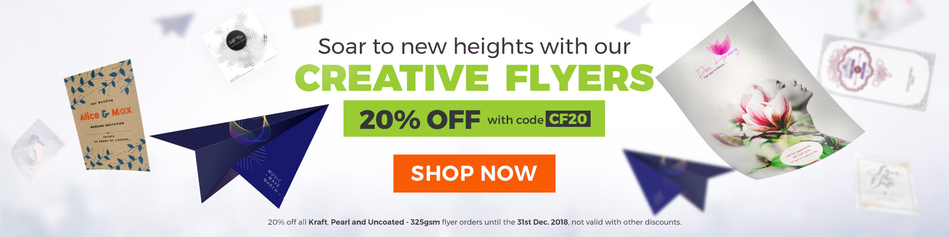 Creative Flyers with 20% off discount code CF20
